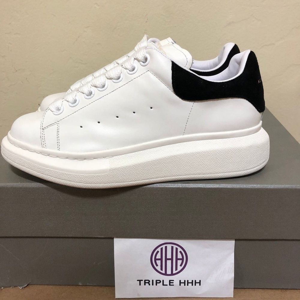 Alexander Mcqueen Oversized Sneaker Women S White Black Trim Shoes Size 38 Us8 Fashion Clothing Alexander Mcqueen Oversized Sneakers Sneakers Womens Sneakers