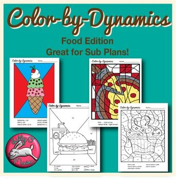 Color-by-Dynamics Music Coloring Pages | Music Dynamics Worksheets ...