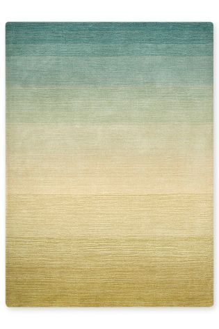 Omber Tonal Green And Teal Rug From The Next Uk Online