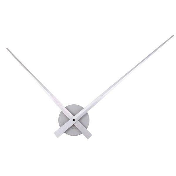 Karlsson Little Big Time Clock Silver Clock Aluminum Wall Wall Clock