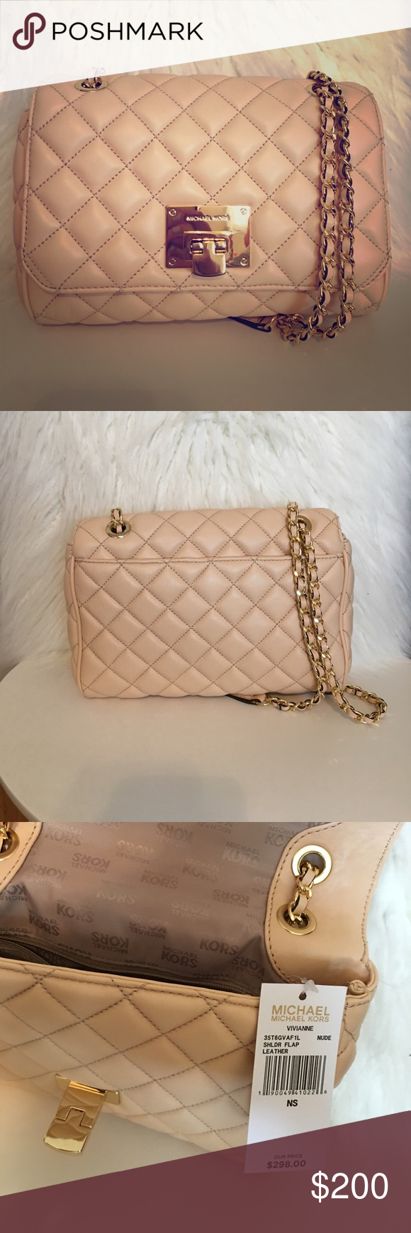 e07deaf3c967 Michael Kors Vivianne quilted flap handbag Gorgeous MK quilted flap  shoulder bag!
