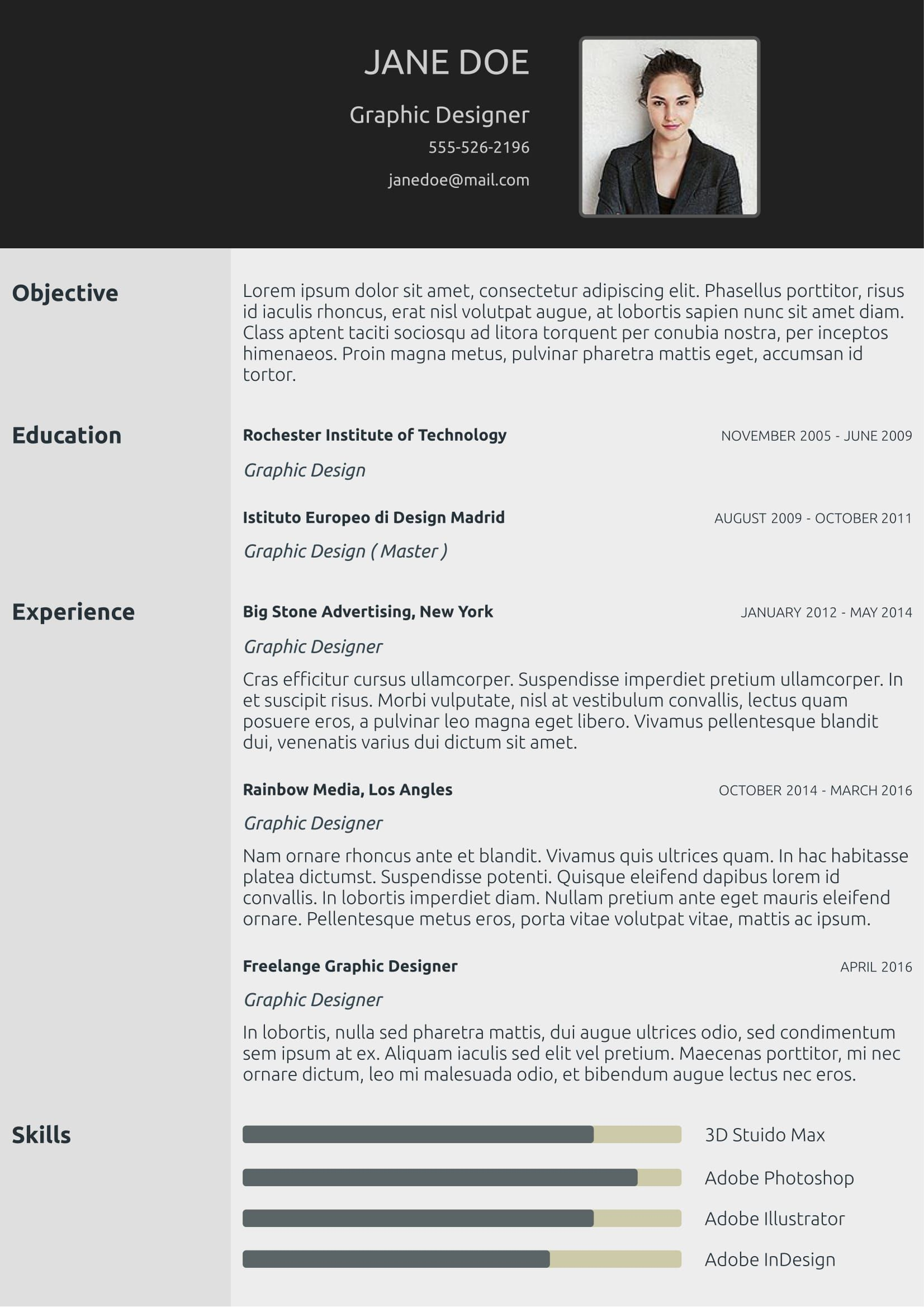 Classic Cv Template From CvzillaCom Enjoy Creating Your Awesome