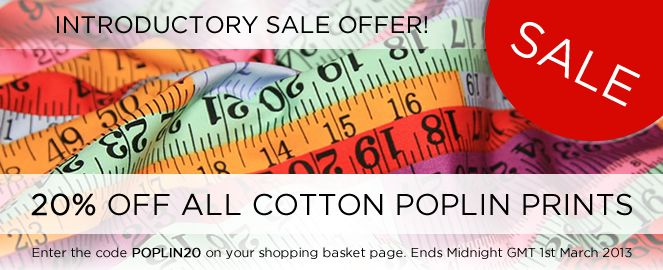 Fab New Introductory Offer Of 20 Off New Ranges Cotton Prints On