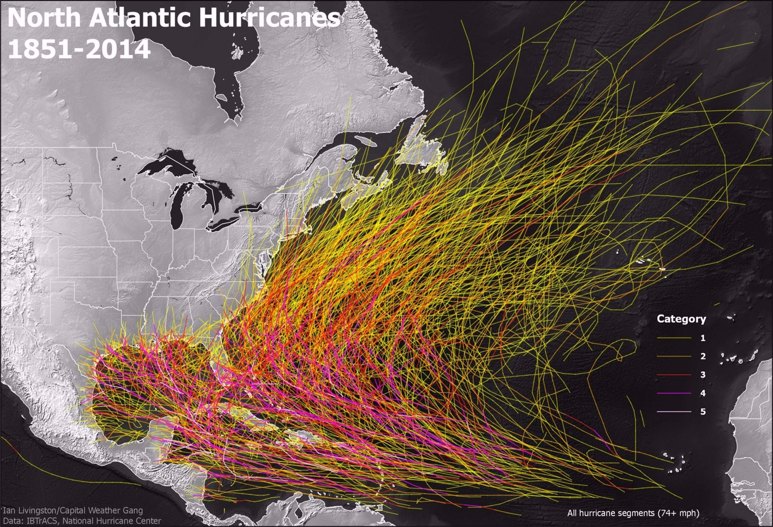 Historically Speaking Some Areas Are More Likely Than Others To See A Hurricane Landfall By Ian Livingston Atlantic Hurricane Natural Disasters Hurricane