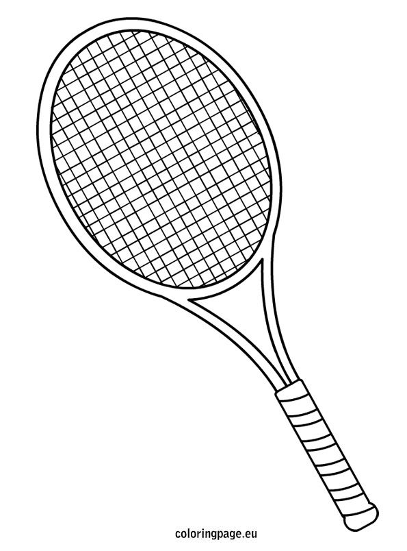 tennis-racket-coloring-page   Quilting - Appliqu ...
