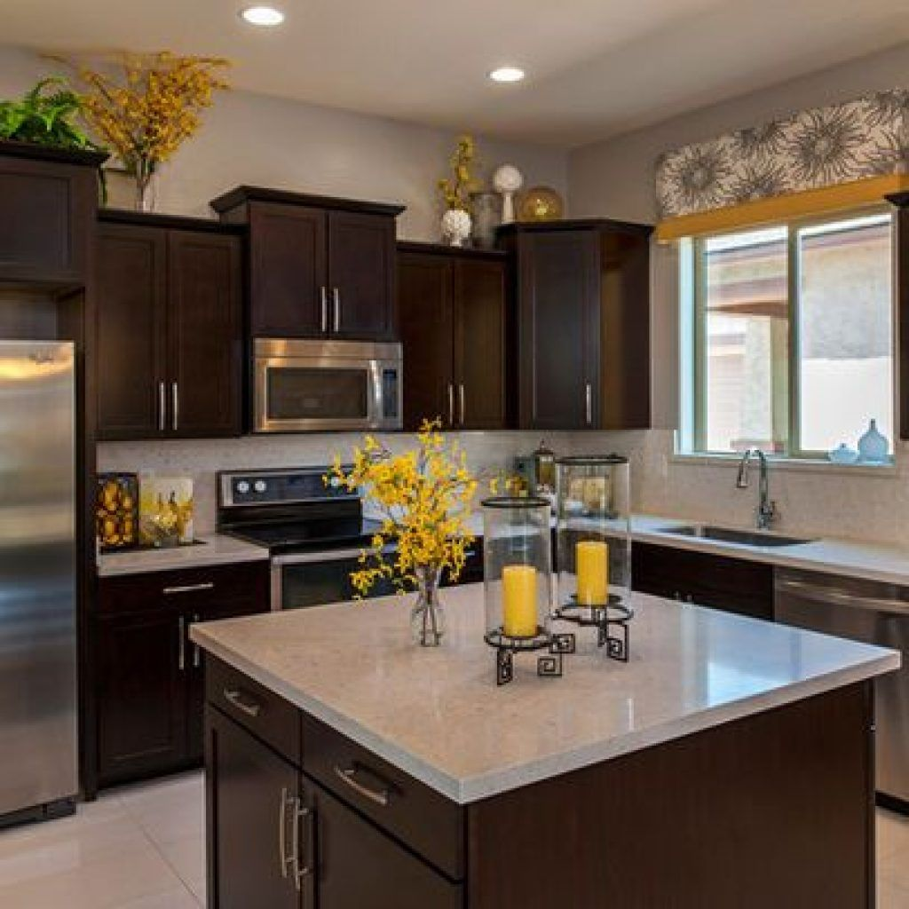 Kitchen Yellow Decor Kitchen Photos Yellow Accents Design Pictures Remodel Appealing Yellow Kitch In 2020 Kitchen Cabinets Decor Top Kitchen Cabinets Kitchen Remodel