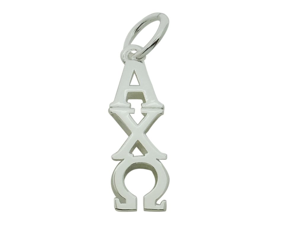 Alpha Phi with Pearl Greek Sorority Lavalier Pendant Drop Charm Chain Necklace