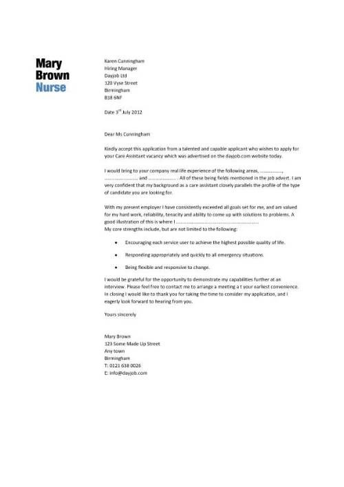 Cover Letter Examples For Nurses Aide - http\/\/wwwresumecareer - cover letter examples for nurses