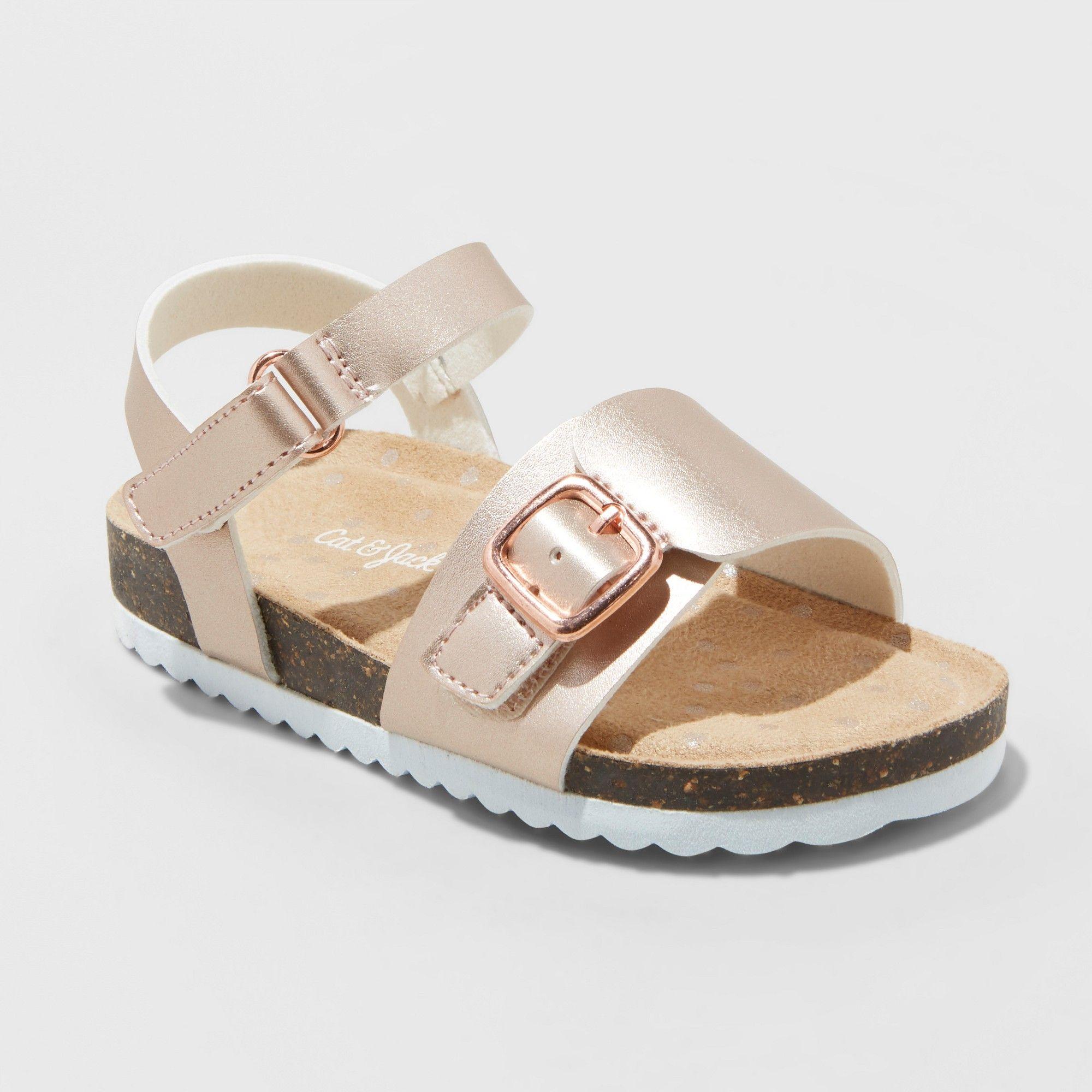 156d252ac8ec9 Toddler Girls  Berdie Comfort Footbed Sandals - Cat   Jack Rose Gold ...
