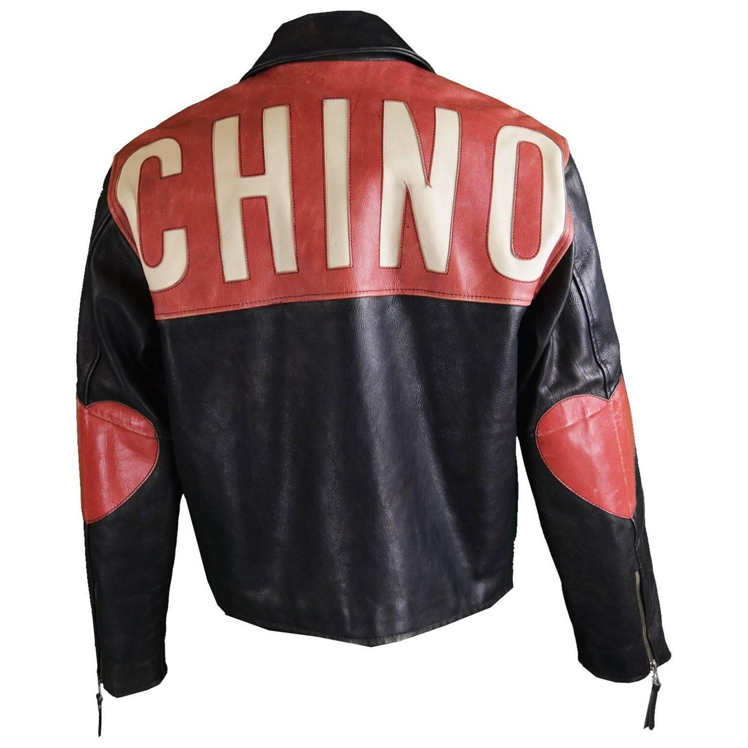Moschino Men S Vintage Black And Red Love Heart Leather Jacket 1990s Cool Jackets For Men Jackets Men Fashion Leather Jacket Men Style [ 1500 x 1500 Pixel ]