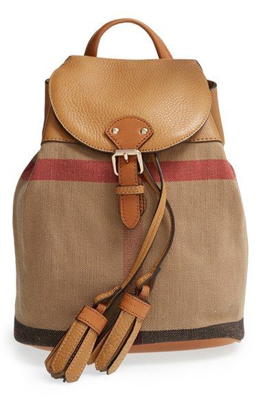 Burberry Check Print Leather Mini Backpack Kids Available At