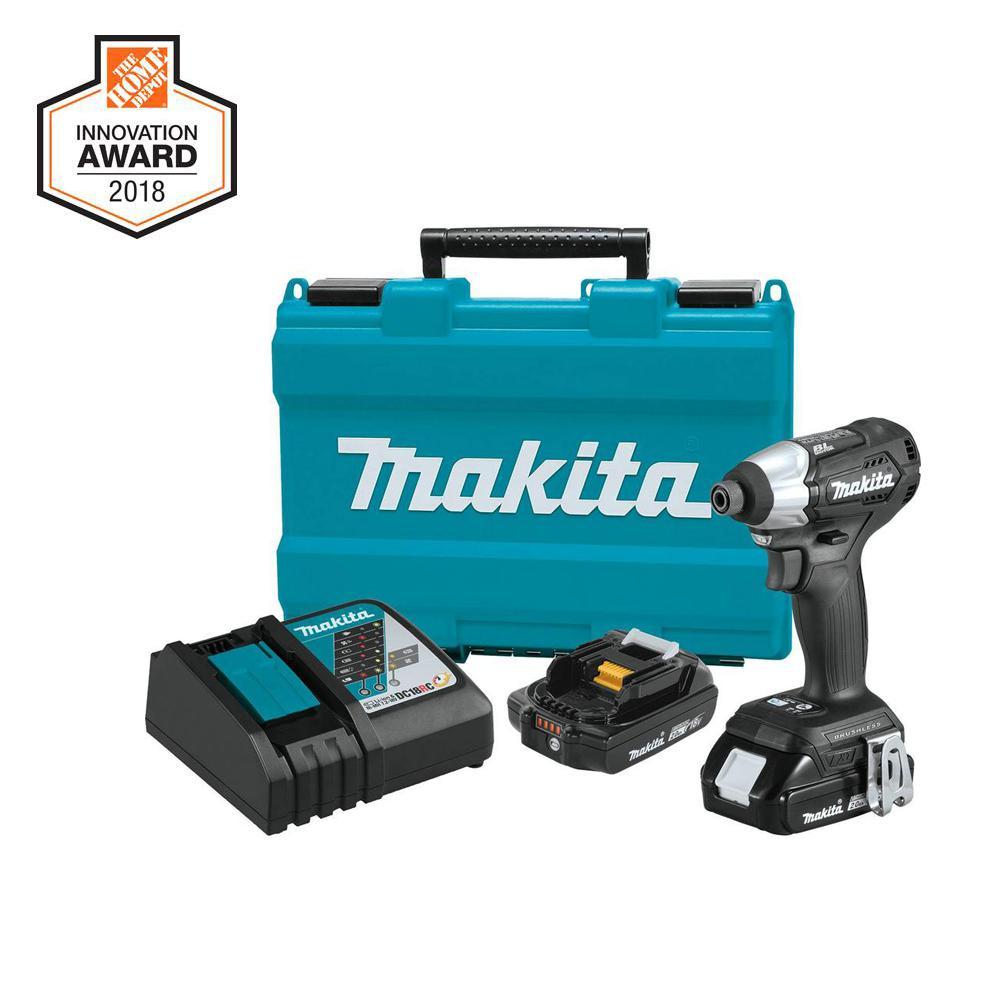 Makita 18 Volt 2 0ah Lxt Lithium Ion Sub Compact Brushless Cordless Impact Driver Kit Impact Driver Makita Cordless