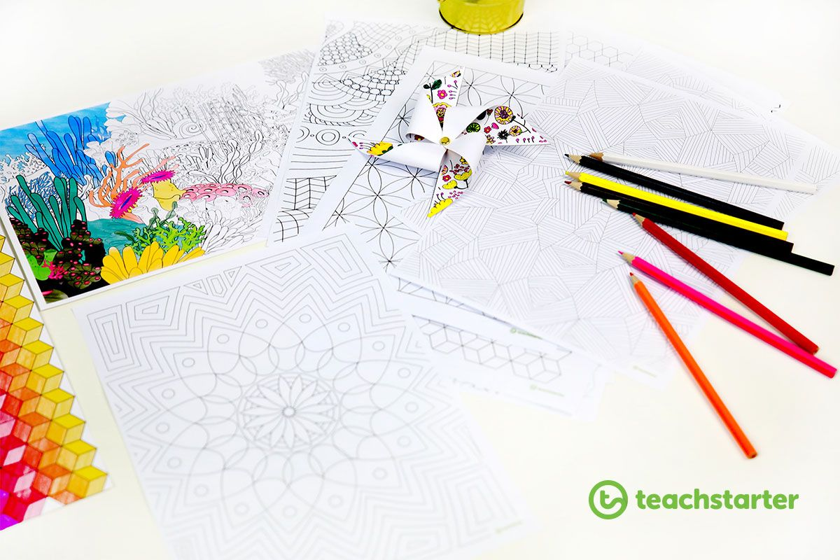 How To Use Printable Mindfulness Colouring Sheets In The