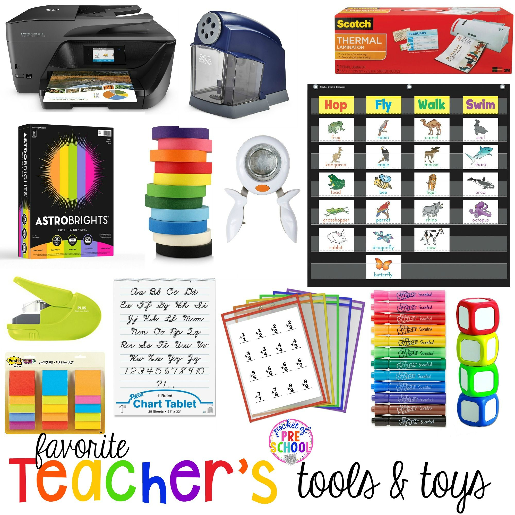 My favorite teacher tools all preschool, pre-k, and ...