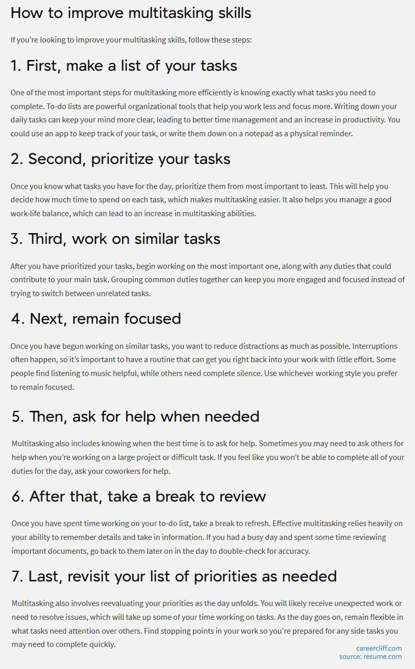 How to improve multitasking skills multitasking interview questions multitasking interview multitasking interview questions examples interview questions multitasking prioritizing multitasking interview answer explain multitasking interview questions and answers multitasking examples for interview multitasking behavioral interview questions multitasking job interview questions multitasking skills interview questions interview questions regarding multitasking multitasking questions for interview