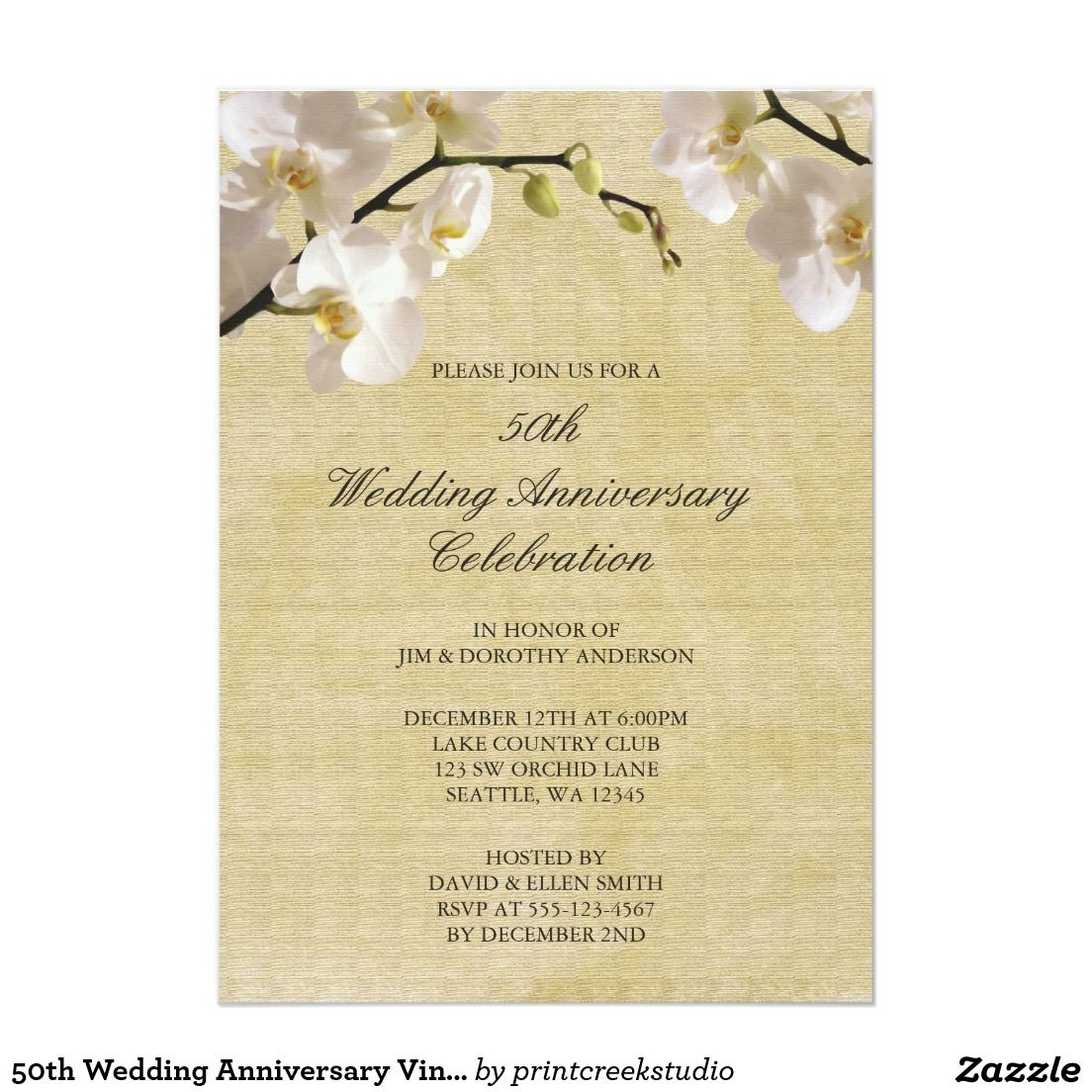 50th Wedding Anniversary Vintage White Orchid 5\