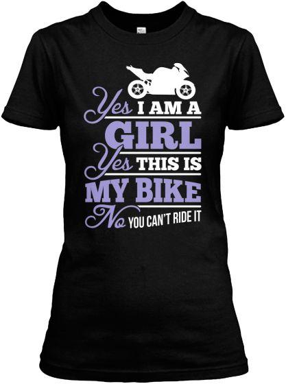 Yes. Yes. No. Biker Girl   Teespring