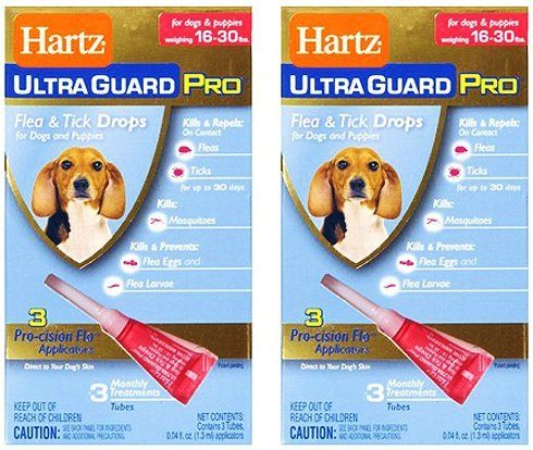 Hartz Ultraguard Pro Flea And Tick Drops For Dogs And Puppies Weighing 16 30 Pound Pack Of 2 6 Month Supply To V Fleas Dogs And Puppies Dog Training Pads