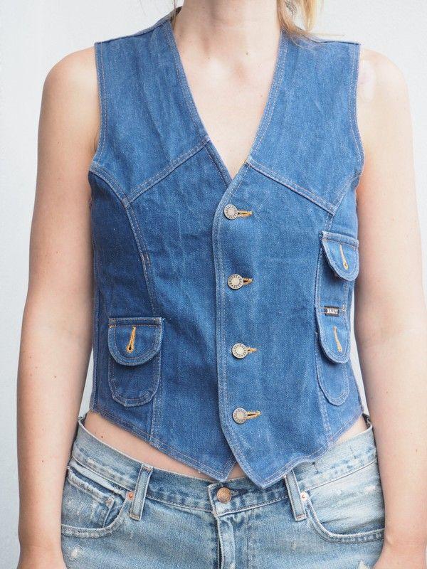 70er Jahre Jeansweste | 70sDenimVestGirls | Pinterest | Jeans ...