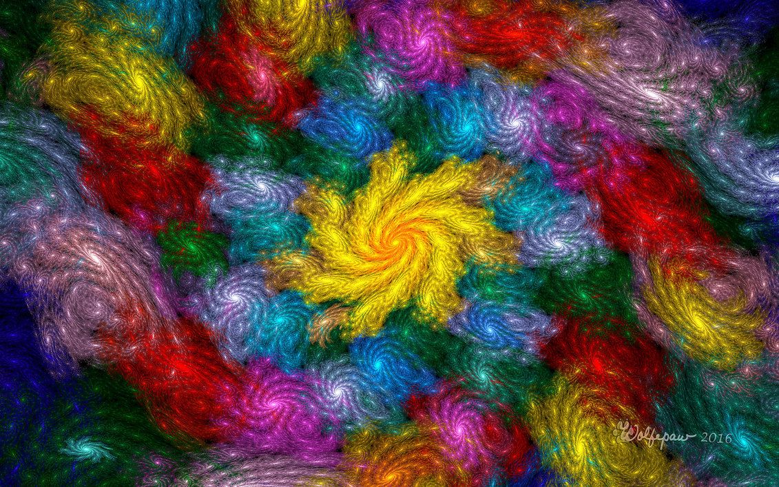 Rainbow of Galaxies by wolfepaw.deviantart.com on @DeviantArt