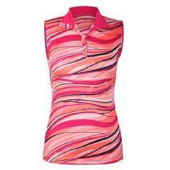 Tail Activewear Lanai Sunrise Spin Sleeveless Printed Jersey Polo - Mrs Golf  - Ladies Golf Apparel