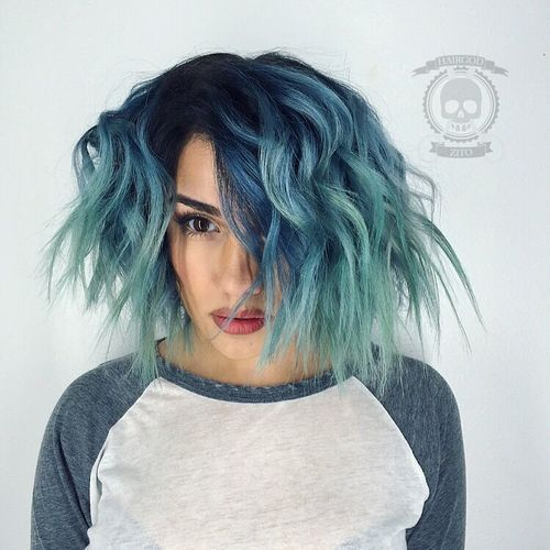 40 Fairy Like Blue Ombre Hairstyles Blue Ombre Hair Hair Looks