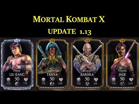 MKX Mobile Update 1 13 New Players (BARAKA, ASSASSIN JADE