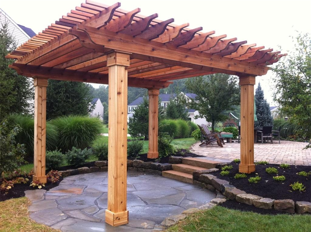 Woodworking Industry Trends: Free access Cedar pergola plans - Woodworking Industry Trends: Free Access Cedar Pergola Plans Yard