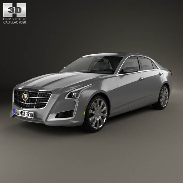 2014 Cars Cadillac Cts Use: Cadillac CTS 2014 3d Model From Humster3d.com. Price: $75