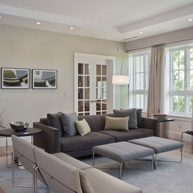 Living Room Paint Grey Couch Lighting For With Cathedral Ceiling Gray Tan Wall The Home
