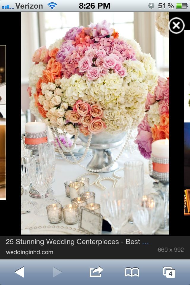 Vintage centerpiece for table outside reception
