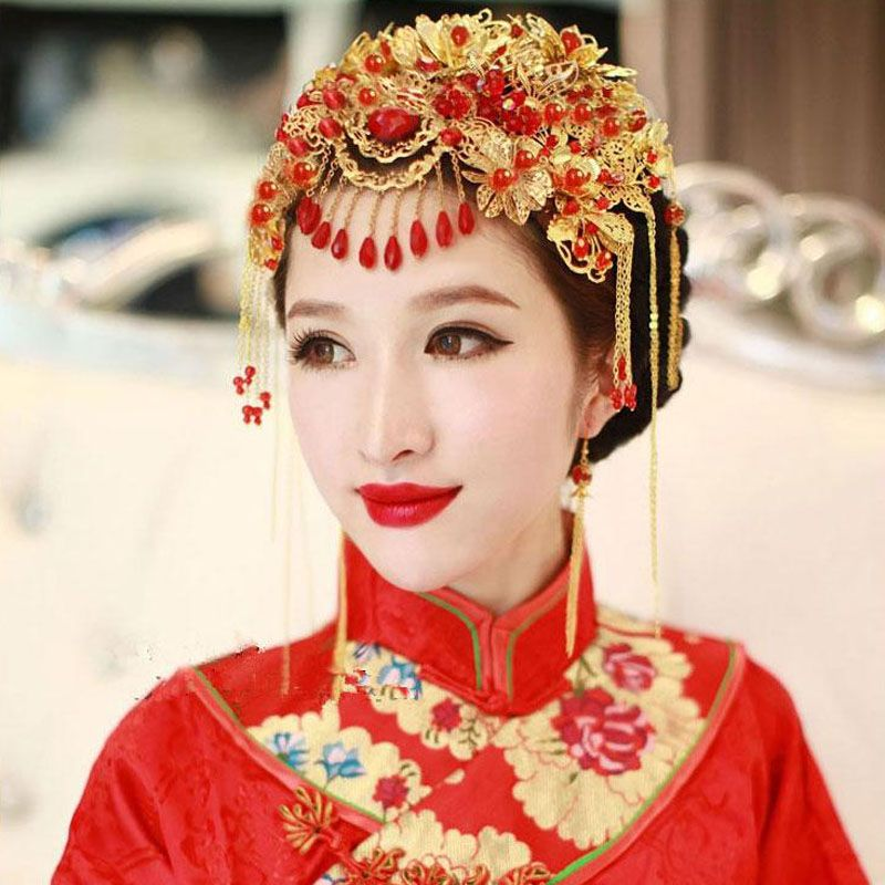 Vintage Chinese Hair Styles Classical Jewelry Traditional Bridal