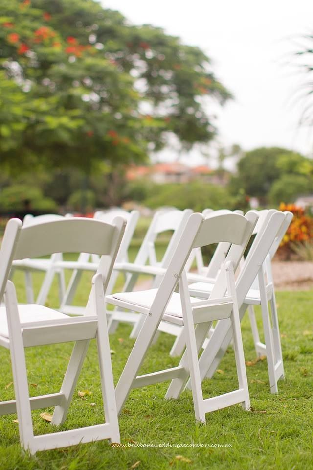 Fresh White Americana Chairs By Brisbane Wedding Decorators Brisbaneweddingdecoratorsau