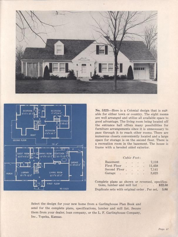 New American homes, 7th ed. | Vintage house plans, Modern ...