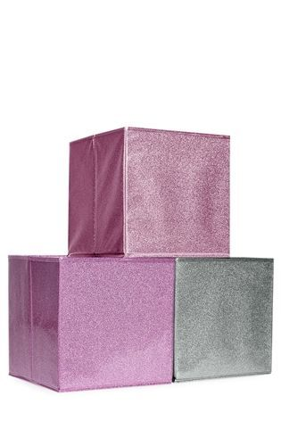 Buy Set Of 3 Glitter Storage Boxes From The Next Uk Online