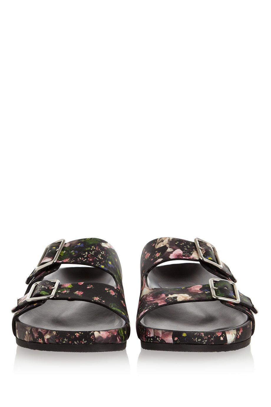 ☆Givenchy Floral-print nappa leather sandals