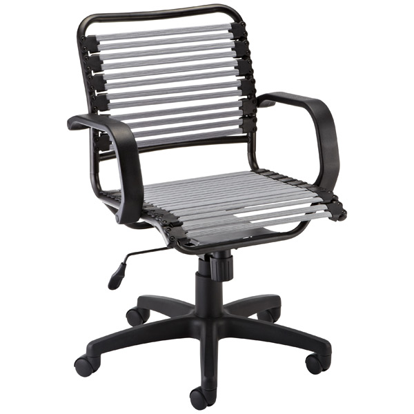 Silver Flat Bungee Office Chair With Arms The Container Store