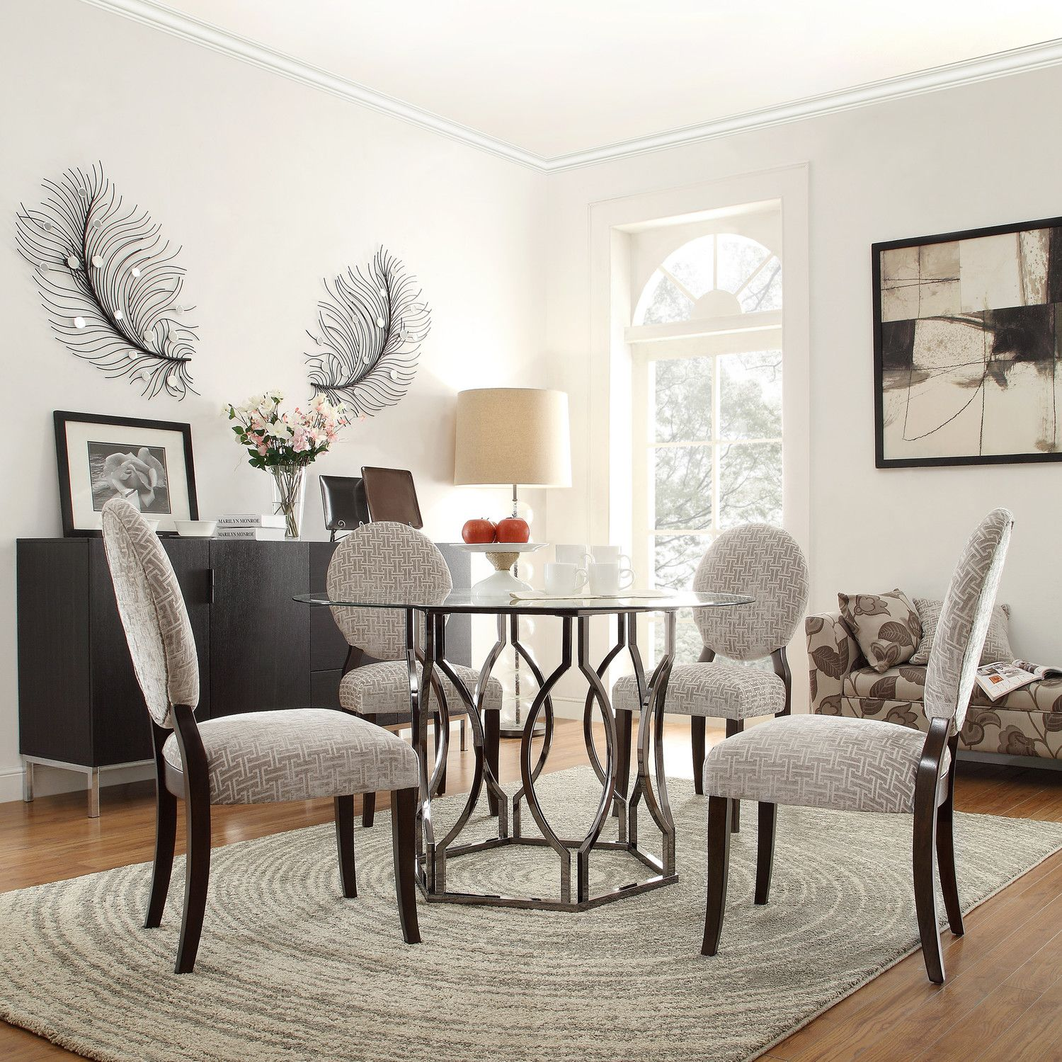 Kingstown Home Carlotta Round Glass Dining Table | For the Home ...