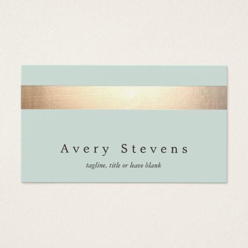 Faux gold foil striped elegant light blue chic business card faux gold foil striped elegant light blue chic business card reheart Choice Image