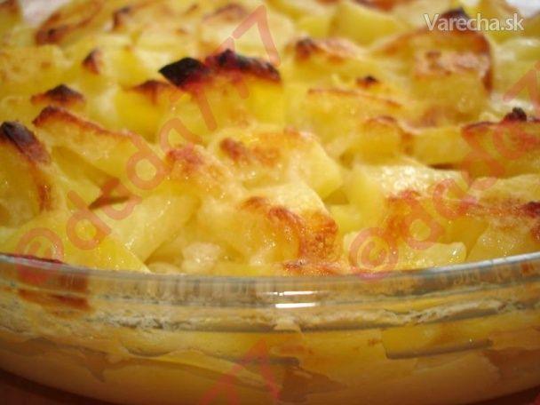 Zapekané zemiaky s cesnakom - Recept