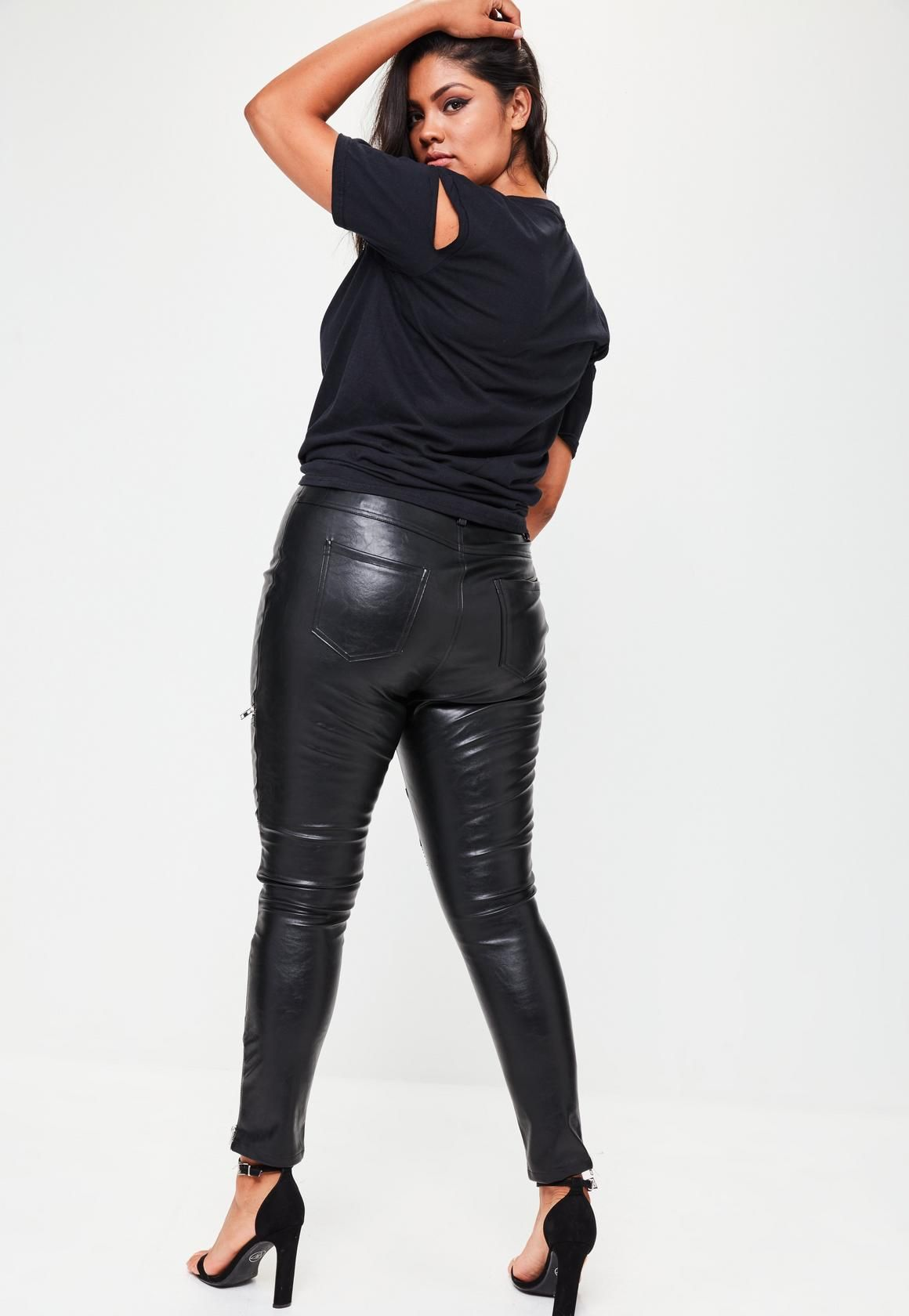 0e14a0e2c1641 Missguided - Plus Size Black Premium Faux Leather Pants