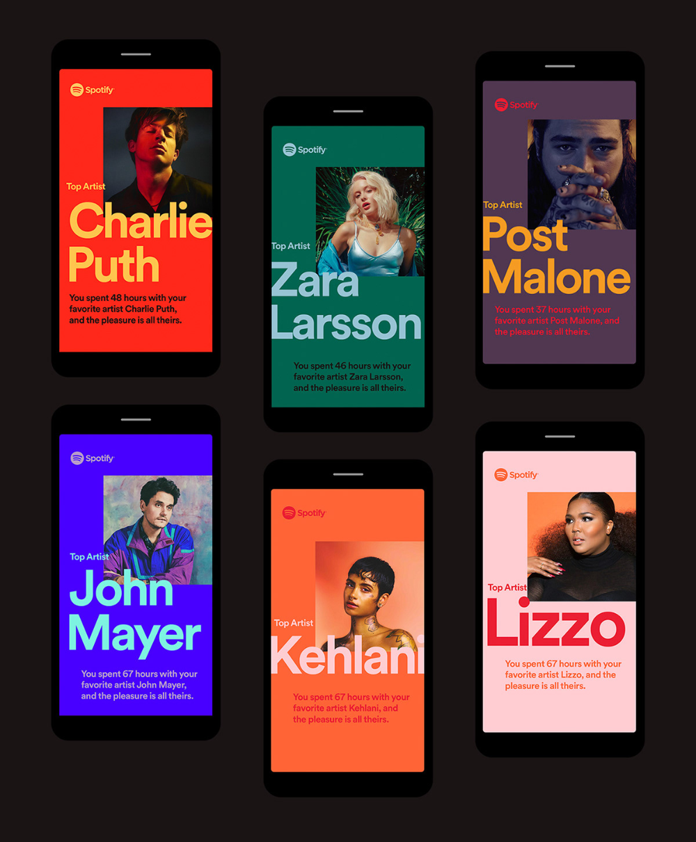 Spotify 2018 Wrapped On Behance App Design Graphic Design Posters Social Media Design