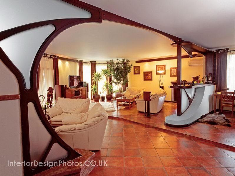 Art Nouveau Homes Interior Architecture | Living Room Design №11020005 In  Art Nouveau Style Living