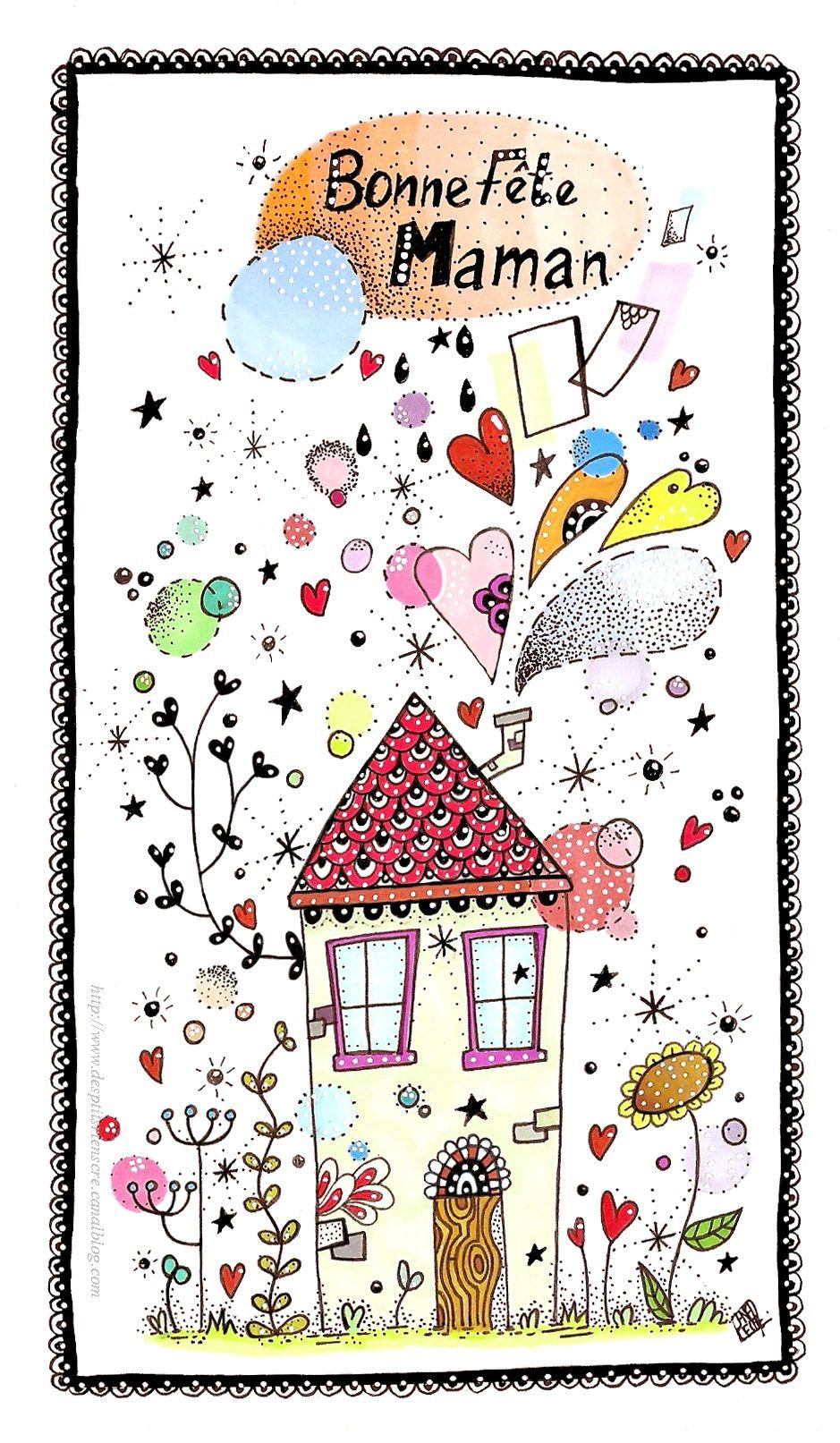 Carte Bonne Fete Imprimer.Bonne Fete Maman 2015 A Imprimer Des P Tits Riens