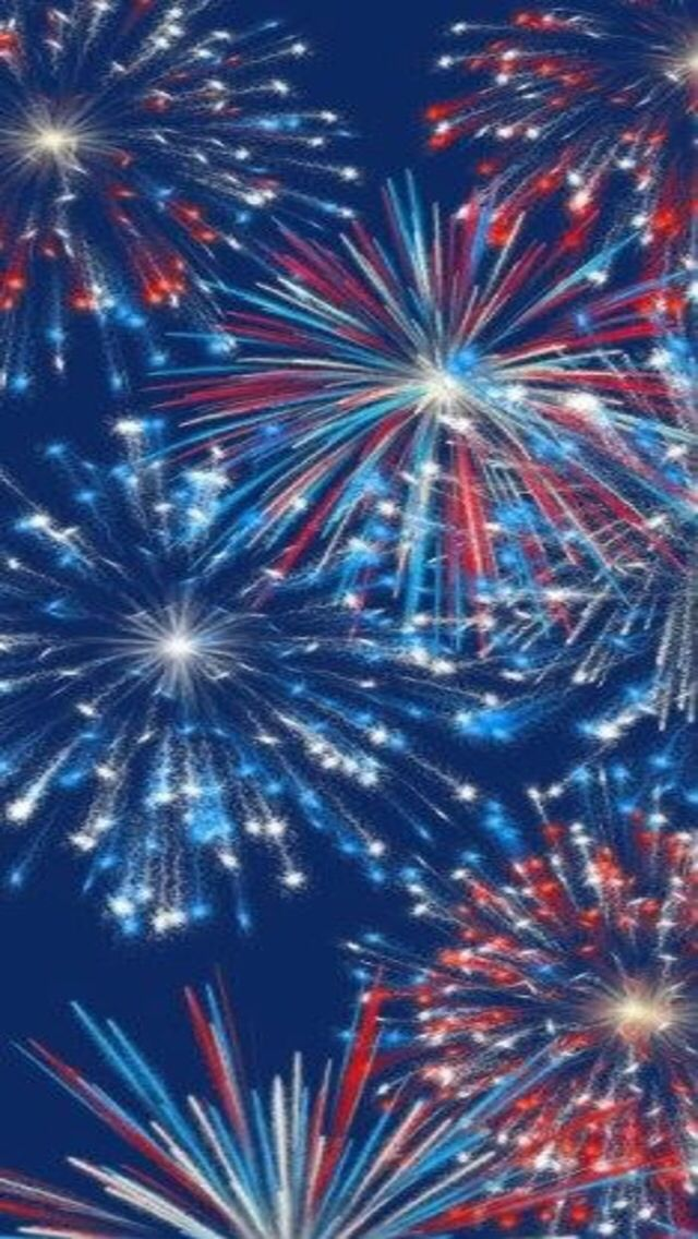 Red, White & Blue Fireworks | Iphone Wallpaper in 2019 ...