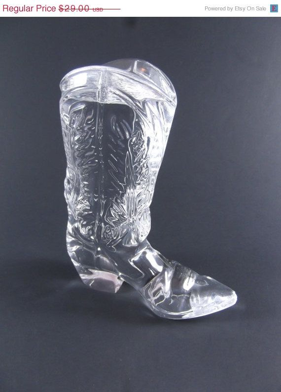 06e11ed67236 Ralph Lauren Crystal Cowboy Boot | Glass - Vintage / Antique ...