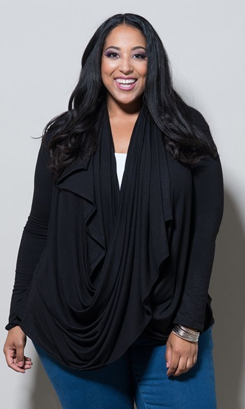 #plussize Eternity Wrap Cardigan - Black #bbw #curvy #fullfigured #plussize #thick #beautiful #fashionista #style #fashion #shop #online www.curvaliciousclothes.com TAKE 15% OFF Use code: TAKE15 at checkout