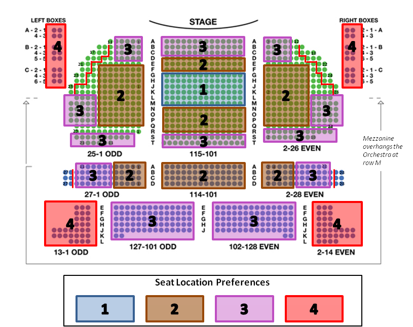 how to choose seats broadway show