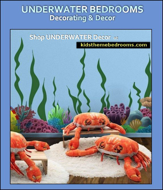 crab shaped throw pillows - fun under the sea decor images