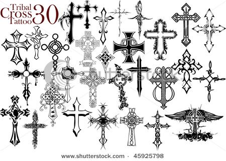 Tattoos Drawings Crosses On Tattoo Designs Cool Cross Tattoos